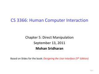 CS 3366: Human Computer Interaction