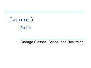 Lecture 3 Part 2