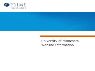 University of Minnesota Website Information