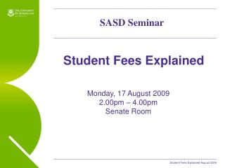 Student Fees Explained