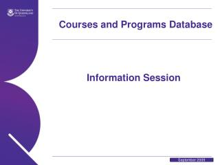 Courses and Programs Database