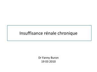 Insuffisance r nale chronique