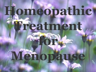 Homeopathic Treatment  for Menopause