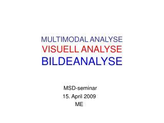 MULTIMODAL ANALYSE VISUELL ANALYSE BILDEANALYSE