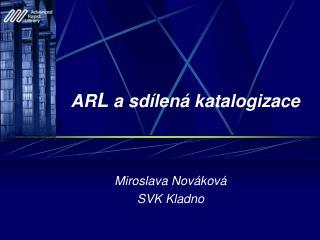 AR L  a sd�len� katalogizace