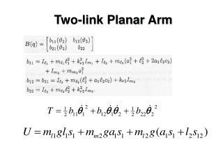 Two-link Planar Arm