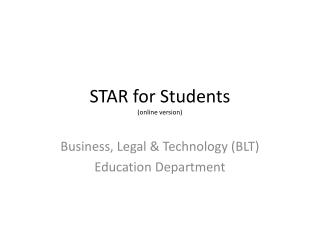 STAR for Students (online version)