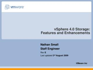 vSphere 4.0 Storage: Features and Enhancements
