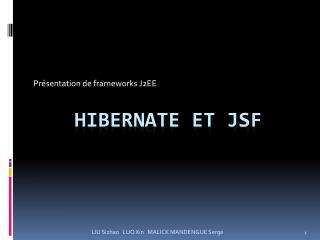 Hibernate et JSF