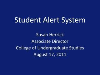 Student Alert System
