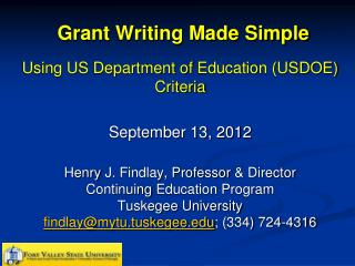 Grant Writing Made Simple