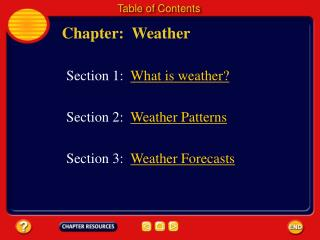 Chapter:  Weather