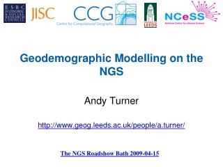 Geodemographic Modelling on the NGS