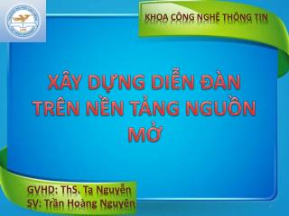 KHOA CÔNG NGHỆ THÔNG TIN