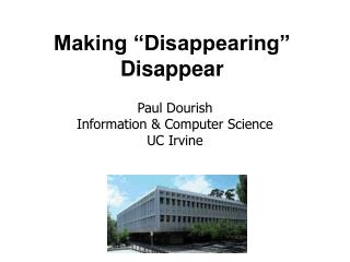 "Making ""Disappearing"" Disappear"