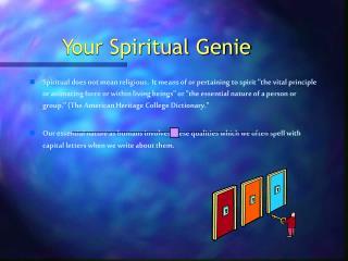 Your Spiritual Genie