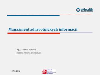 Manažment zdravotníckych informácií