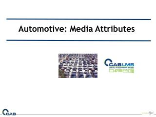 Automotive: Media Attributes