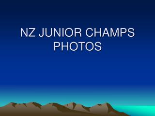NZ JUNIOR CHAMPS PHOTOS