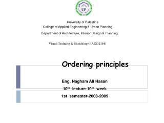 Ordering principles