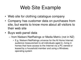 Web Site Example