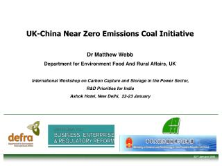 UK-China Near Zero Emissions Coal Initiative Dr Matthew Webb