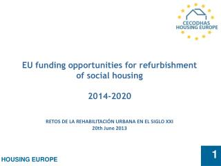 EU funding opportunities for refurbishment of social housing  2014-2020