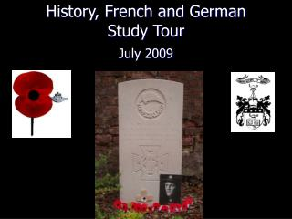 History, French and German Study Tour