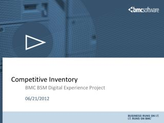 Competitive Inventory