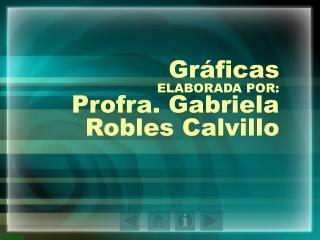 Gráficas ELABORADA POR: Profra. Gabriela Robles Calvillo