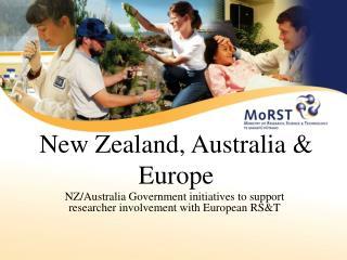 New Zealand, Australia & Europe