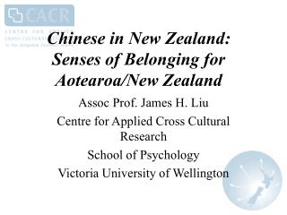 Chinese in New Zealand: Senses of Belonging for Aotearoa/New Zealand