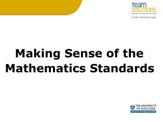 Making Sense of the  Mathematics Standards