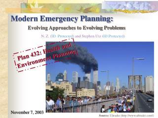 Modern Emergency Planning: