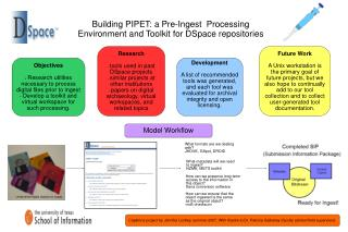 Building PIPET: a Pre-Ingest  Processing  Environment and Toolkit for DSpace repositories