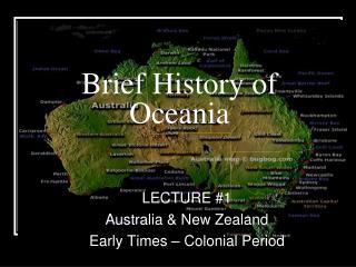 Brief History of Oceania