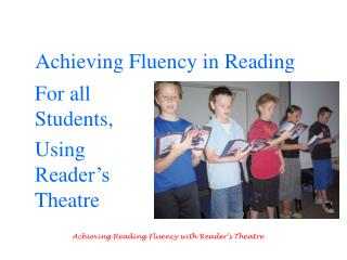 Achieving Fluency in Reading