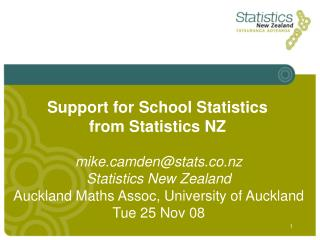 Support for School Statistics from Statistics NZ