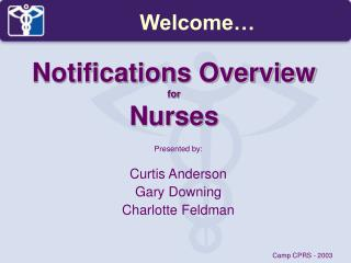 Notifications Overview for Nurses
