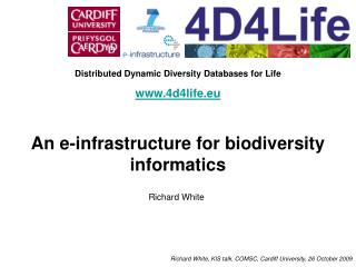 Distributed Dynamic Diversity Databases for Life 4d4life.eu