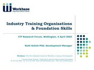 Industry Training Organisations  & Foundation Skills