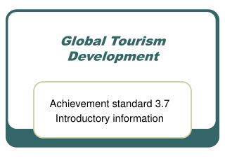 Global Tourism Development
