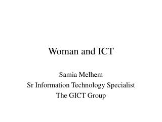 Woman and ICT
