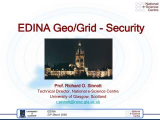 EDINA Geo/Grid - Security