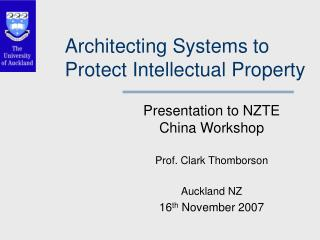 Architecting Systems to Protect Intellectual Property