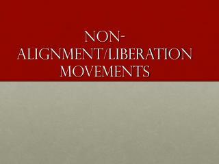 non-alignment/Liberation movements