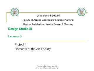 Design Studio III  Lecturer 5