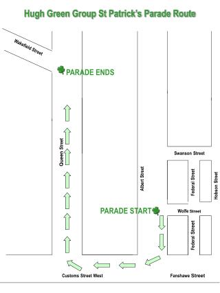 Hugh Green Group St Patrick�s Parade Route
