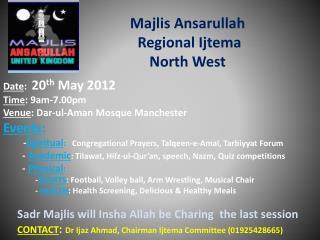 Majlis Ansarullah   Regional Ijtema North West