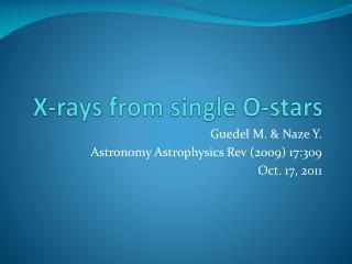X-rays from single O-stars